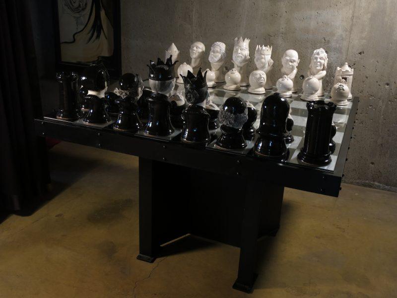 "Chess Set, 50"" x 50"""
